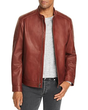 Cole Haan - Leather Racer Jacket