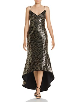 Black Halo - Armelle High/Low Sequin Gown