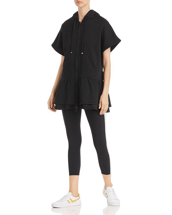 Moncler - Knit Ruffled Zip-Up Dress