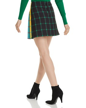 Alice and Olivia - Semira Pleated Check Mini Skirt