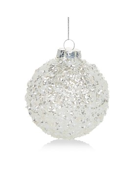 Bloomingdale's - Snowy Glass Ball Ornament - 100% Exclusive