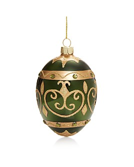 Bloomingdale's - Embellished Green Glass Egg Ornament - 100% Exclusive