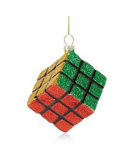 Bloomingdale's - Magic Block Glass Ornament - 100% Exclusive