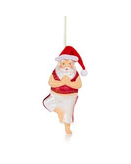 Bloomingdale's - Yoga Santa Glass Ornament - 100% Exclusive