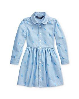 Ralph Lauren - Girls' Pony Shirt Dress - Little Kid
