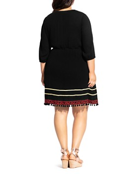 City Chic Plus - In The Details Embroidered Dress