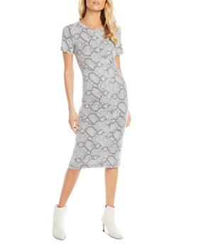 CHASER - Snake Print T-Shirt Dress