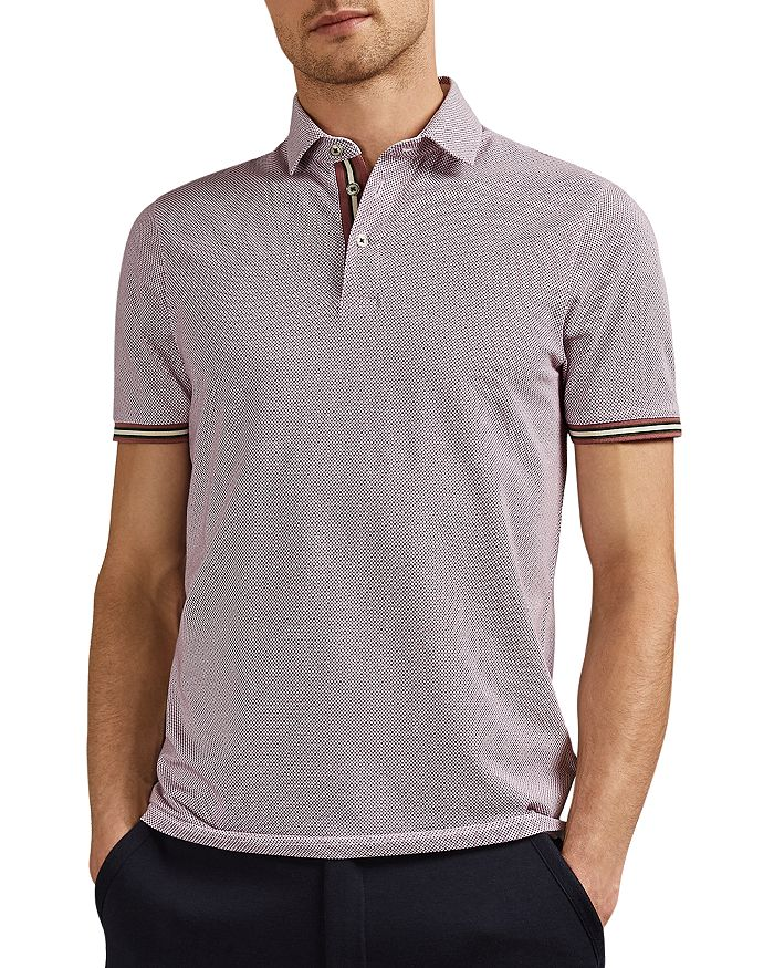 Ted Baker - Islanda Geo Print Regular Fit Polo Shirt