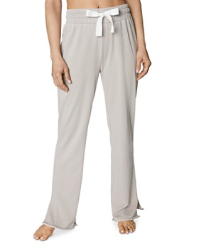 Betsey Johnson - Raw-Edge Side-Slit Sweatpants