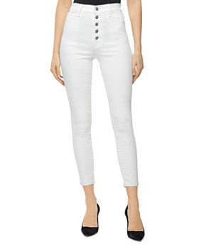 J Brand - Lille High Rise Cropped Skinny Jeans in Coated Bubble