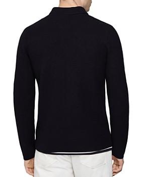 REISS - Roehampton Wool Knit Zip-Up Jacket