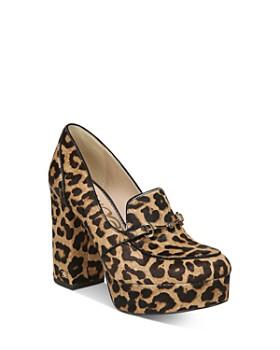 Sam Edelman - Women's Aretha Leopard-Print Platform Loafers