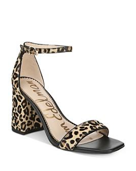 Sam Edelman - Women's Daniella Leopard-Print High-Heel Sandals