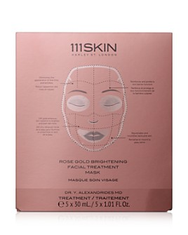 111SKIN - Rose Gold Brightening Facial Treatment Masks, Set of 5