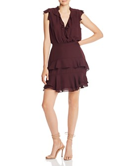 Parker - Cora Ruffled Silk Mini Dress