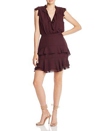 Parker - Cora Ruffled Silk Mini Dress