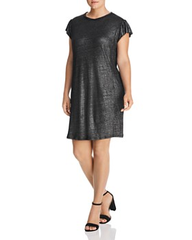 MICHAEL Michael Kors Plus - Metallic Linen Tee Dress