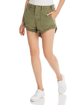 One Teaspoon - Bandits Cuffed Utility Shorts