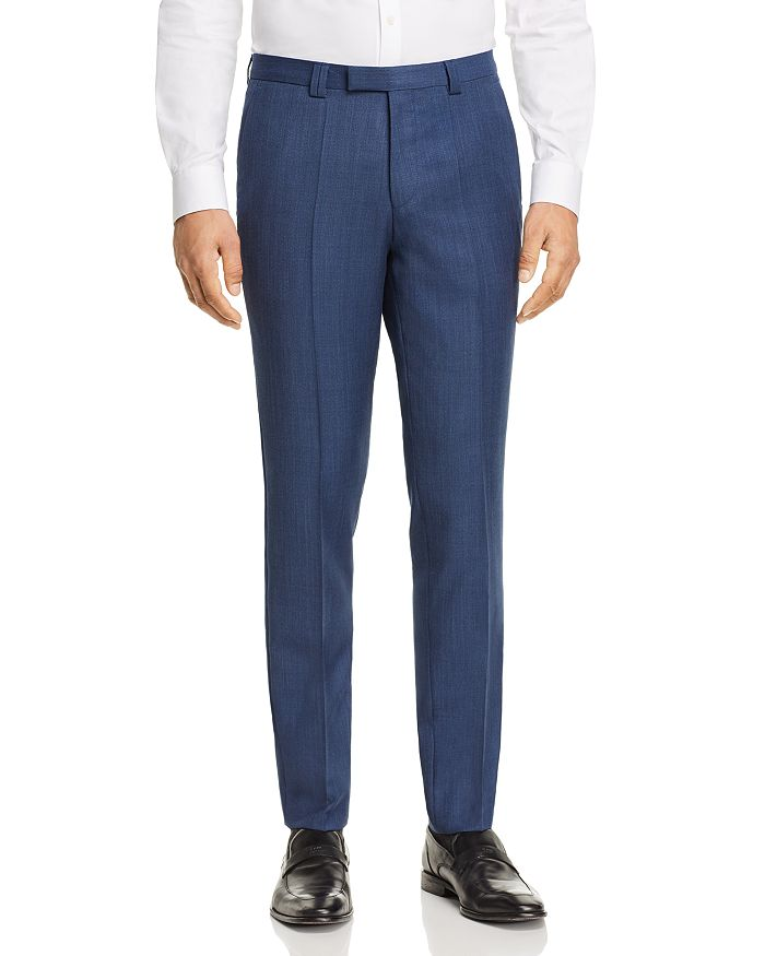 HUGO - Hesten Birdseye Extra Slim Fit Suit Pants