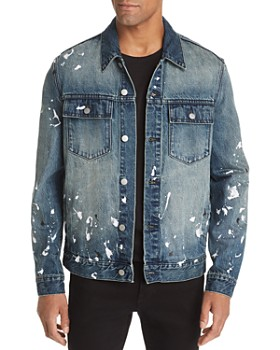 WeSC - Paint Splatter Regular Fit Denim Jacket
