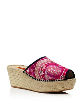 RESPOKE - Women's Printed Wedge Heel Espadrille Sandals