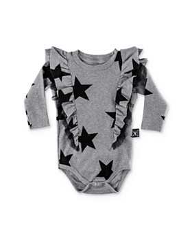 NUNUNU - Girls' Ruffled Star Bodysuit - Baby
