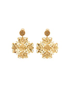 Oscar de la Renta - Abstract Floral Clip-On Earrings