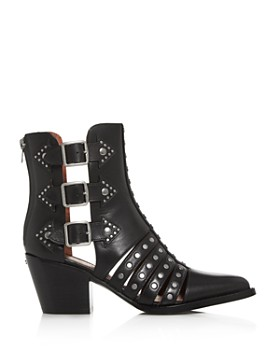 COACH - Women's Phoebe Studded Pointed-Toe Boots