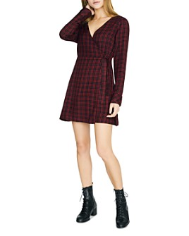 Sanctuary - Upbeat Plaid Faux-Wrap Dress