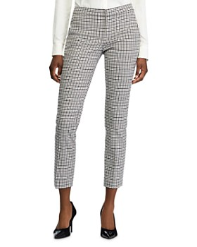 Ralph Lauren - Check-Print Skinny Ankle Pants