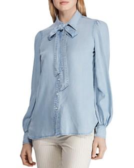 Ralph Lauren - Tie-Neck Chambray Shirt