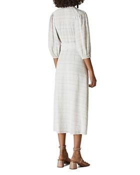 Whistles - Catalina Check-Print Wrap Dress