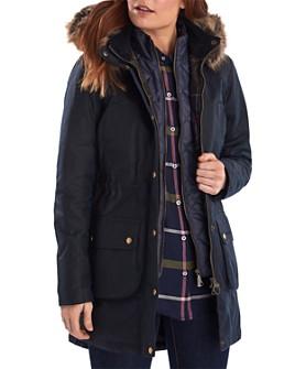 Barbour - Thrunton Faux Fur-Trim Waxed Cotton Jacket
