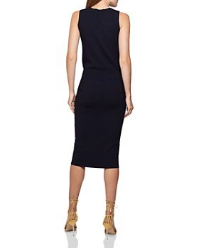 REISS - Amber Tie-Waist Knitted Dress