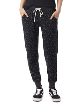 ALTERNATIVE - Leopard Print Fleece Sweatpants
