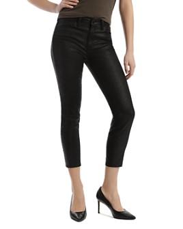 Mavi - Tess Cropped Skinny Jeans in Black Snake