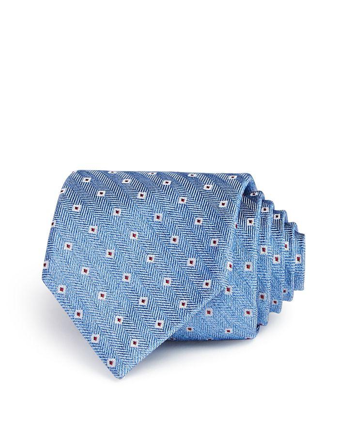 Ledbury - Dunmore Jacquard Micro-Square Silk Classic Tie