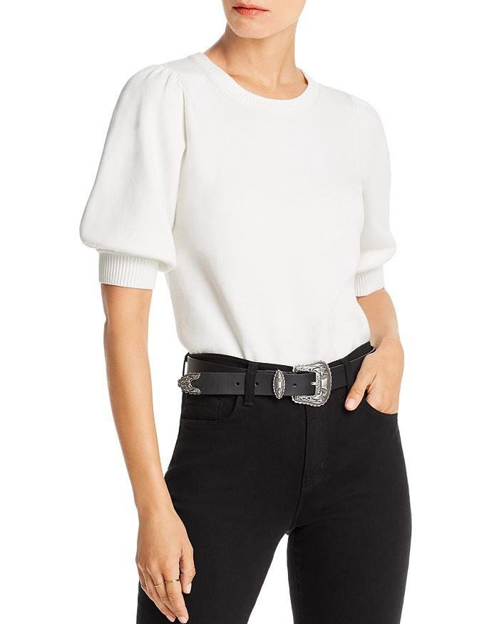 Lini Abigail Puff-sleeve Sweater - 100% Exclusive In White