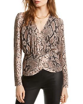 LINI - Alexandra Snake Print Wrap Top - 100% Exclusive
