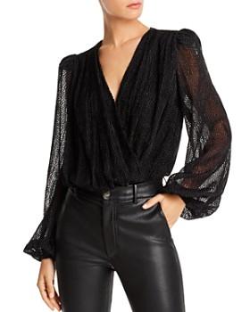 LINI - Luna Puff-Sleeve Flocked Bodysuit - 100% Exclusive