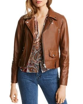LINI - Mila Leather Moto Jacket - 100% Exclusive