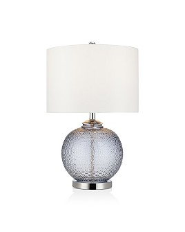 "Cresswell - Smoke Grey Glass Table Lamp 23"""