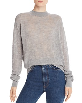 Helmut Lang - Merino Wool Textured Crewneck Sweater