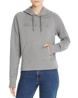 Helmut Lang - Standard Slim Embroidered Hoodie