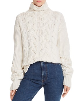 Helmut Lang - Lambswool Chunky Mock Neck Sweater