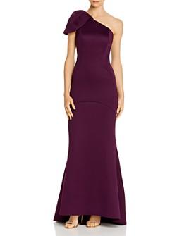 Eliza J - Puffed One-Shoulder Gown
