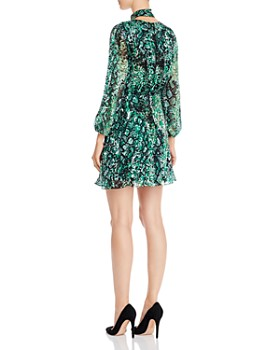 Alice and Olivia - Rita Blouson-Sleeve Choker Dress