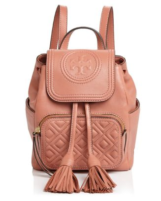 Fleming Mini Leather Backpack by Tory Burch
