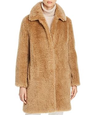 Yves Salomon Wool Teddy Coat