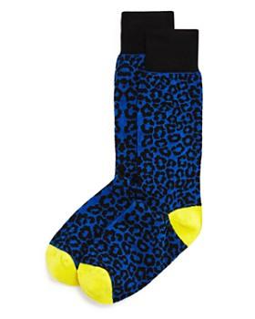 The Men's Store at Bloomingdale's - Color-Block Cheetah Socks - 100% Exclusive